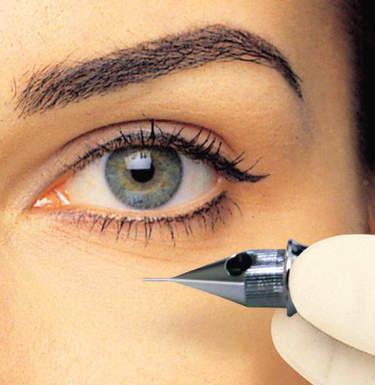 Доступный татуаж глаз